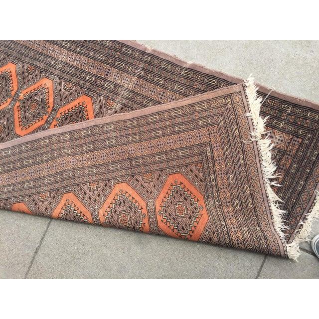 Distressed Vintage Persian Bokhara Rug - 6′ × 4′2″ - Image 9 of 10