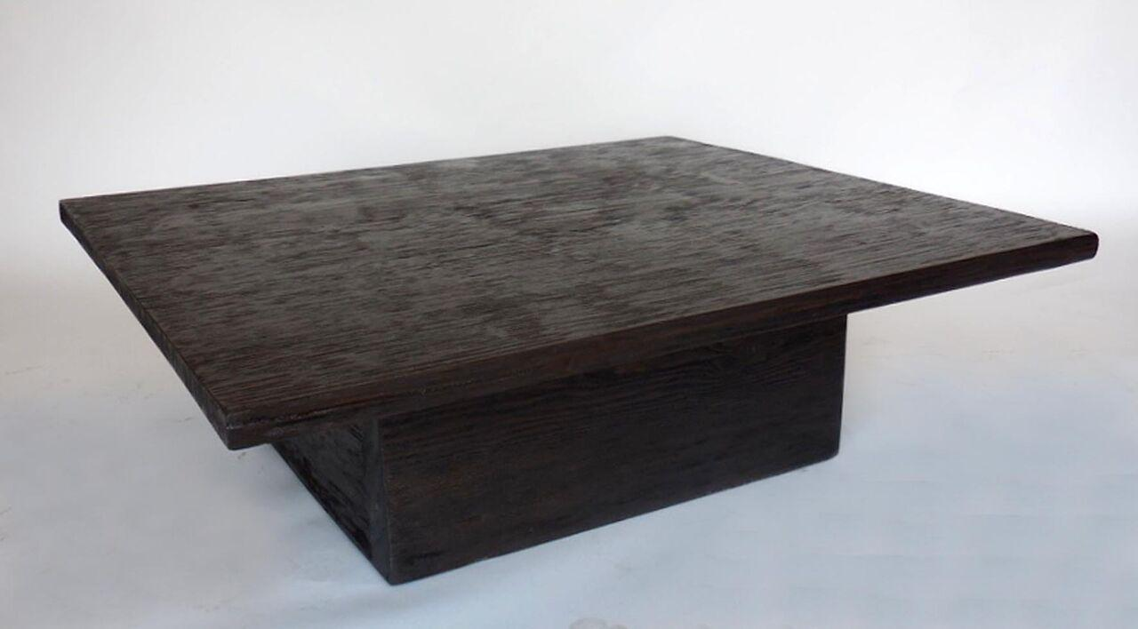 distinguished custom reclaimed wood cube coffee table in espresso Cube Coffee Table