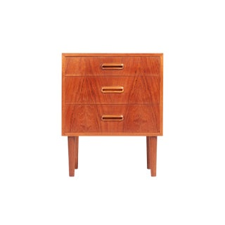 Danish Mid Century Small Teak Bedside Table For Sale