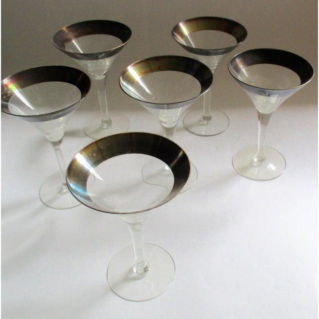 Dorothy Thorpe Silver Rim Champagne Glasses - Set of 6 - Image 3 of 10