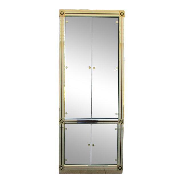 Mastercraft Brass and Black Lacquer Display Case or Vitrine For Sale