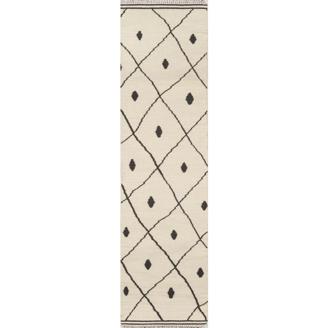 2010s Erin Gates by Momeni Thompson Appleton Ivory Hand Woven Wool Area Rug - 7′6″ × 9′6″ For Sale - Image 5 of 8