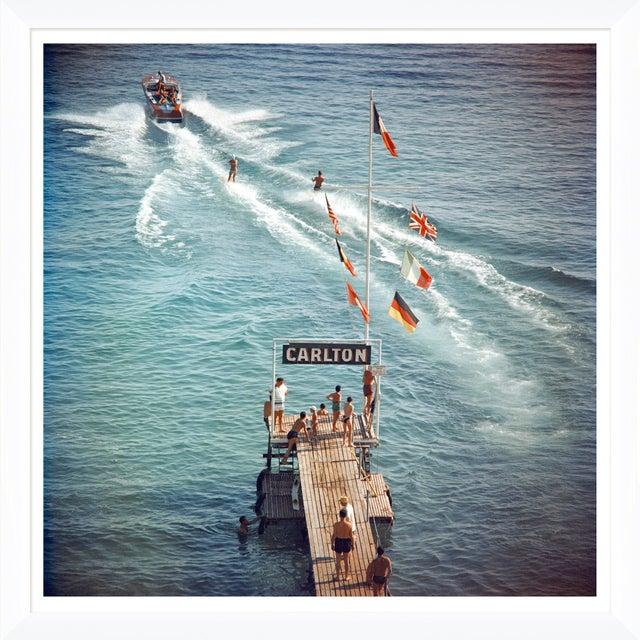 "Slim Aarons Slim Aarons, ""Cannes Watersports,"" January 1, 1958 Getty Images Gallery Art Print For Sale - Image 4 of 5"