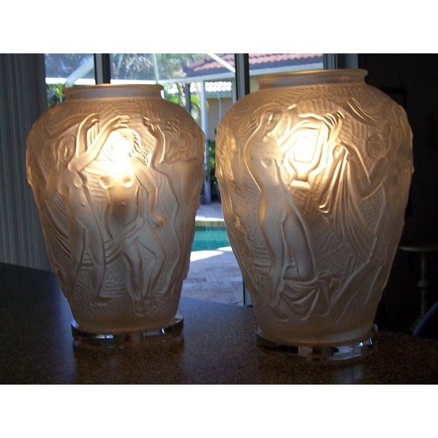 Mid Century Modern Bohemian Czech Lamps - Pair - Image 2 of 7