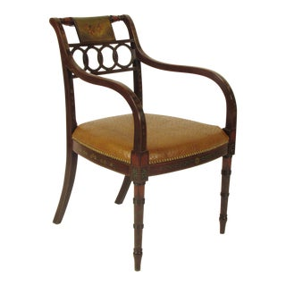 Regency-Style Painted Arm Chair