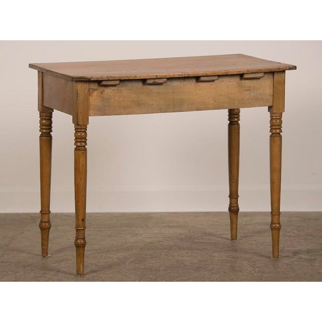 Brown Antique English Pine Writing Table circa 1875 For Sale - Image 8 of 8 - Exceptional Antique English Pine Writing Table Circa 1875 DECASO