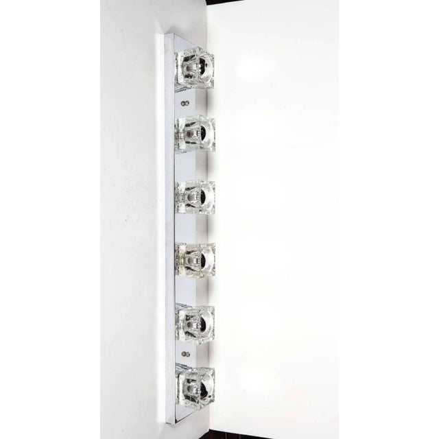 Silver Mid-Century Modern Cubist Wall Light in Chrome by Gaetano Sciolari, Italy For Sale - Image 8 of 10
