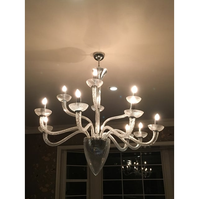Murano Style Crystal Chandelier - Image 2 of 3