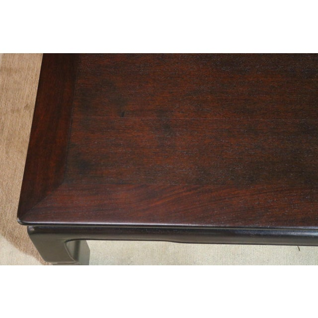1920s Japanese Wooden Low Coffee Table For Sale - Image 5 of 6