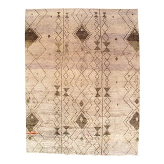 """Contemporary Pasargad Ny Moroccan Hand-Knotted Rug - 9′1"""" × 11′9"""""""