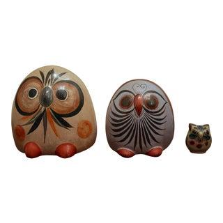 Tonala Owl Family, Set of 3