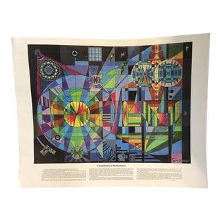 1979 Gary Simek Abstract Mathematics Educational Poster Print For Sale