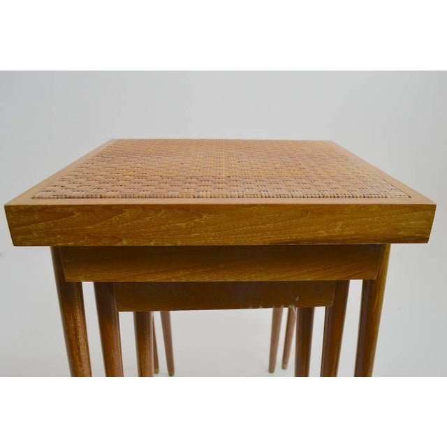 Pair of Nesting Stacking Tables For Sale In New York - Image 6 of 10