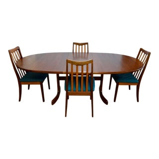 1960s Mid-Century Victor Bramwell for G Plan Teak Danish Dining Set - 5 Pieces For Sale