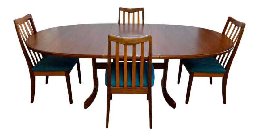 1960s Mid Century Victor Bramwell For G Plan Teak Danish Dining Set   5  Pieces