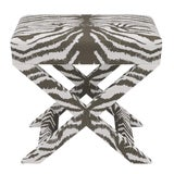 Image of X Bench in Zebra For Sale