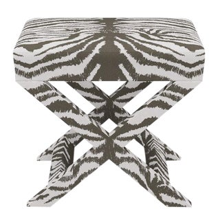 X Bench in Zebra For Sale