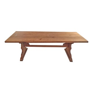 1940s French Oak Dining Table For Sale