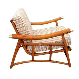 1970s Mid-Century Modern Bamboo Lounge Chair For Sale