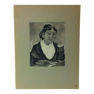 "Mounted Vintage Print on Paper ""The Arlesienne - 1889"" For Sale"