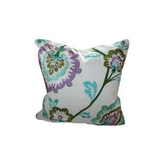 Manuel Canovas Samira Aqua Down Pillow For Sale