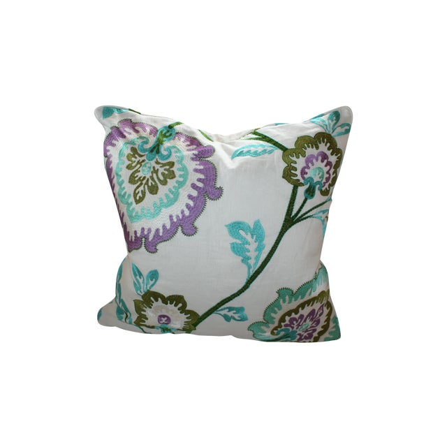 Manuel Canovas Samira Aqua Down Pillow - Image 1 of 5