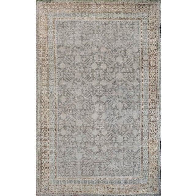 Textile Mid-19th Century Handwoven Wool Khotan Rug For Sale - Image 7 of 7