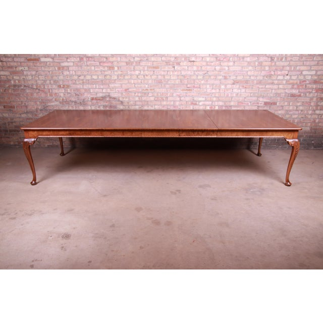 """An important and rare Queen Anne extension dining table By Baker Furniture """"Stately Homes Collection"""" USA, Late 20th..."""