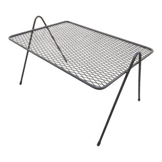 1950's Expanded Metal and Iron Coffee Table For Sale
