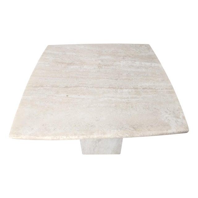 Italian Travertine Marble Side Table - Image 1 of 6