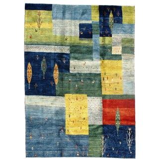 """Persian Gabbeh Rug-5′4'x7′5"""" For Sale"""
