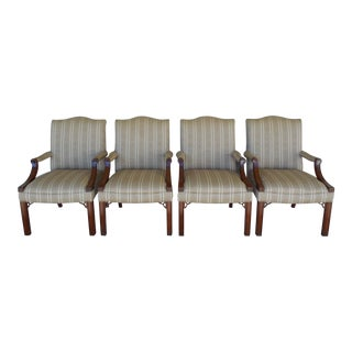 Councill Craftsman Chippendale Style Arm Conference Chairs - Set of 4
