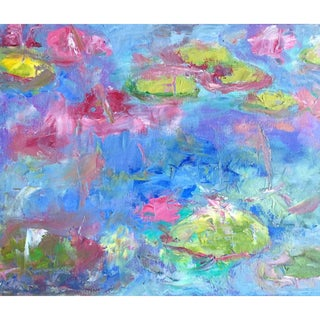Abstract Lily Pads Oil Painting by Shawn Phalen For Sale