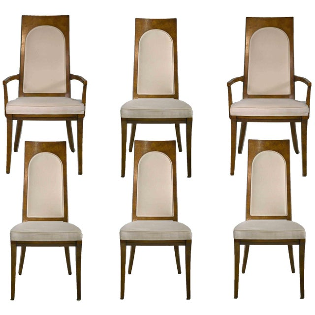 1960s Hollywood Regency Amboyna Wood Dining Chairs by Mastercraft - Set of 6 For Sale - Image 13 of 13