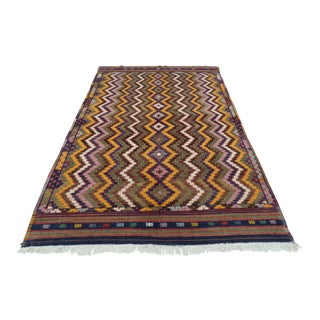 "Anatolian Embroidered Kilim Rug-6'x9'4"" For Sale"