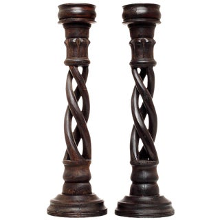 Pair of Vintage Indian Candleholders For Sale