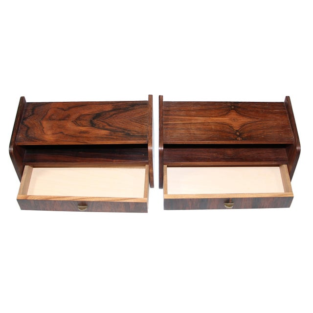 Pair of Mid Century Rosewood Night Stands For Sale In Atlanta - Image 6 of 9