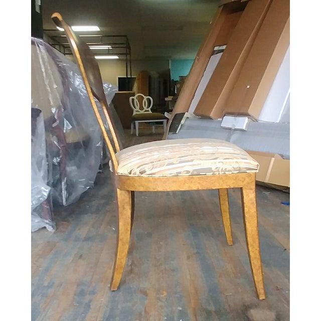 Tan Henredon Furniture Arabesque Solid Antiqued Metal Ladies Desk Chair For Sale - Image 8 of 12