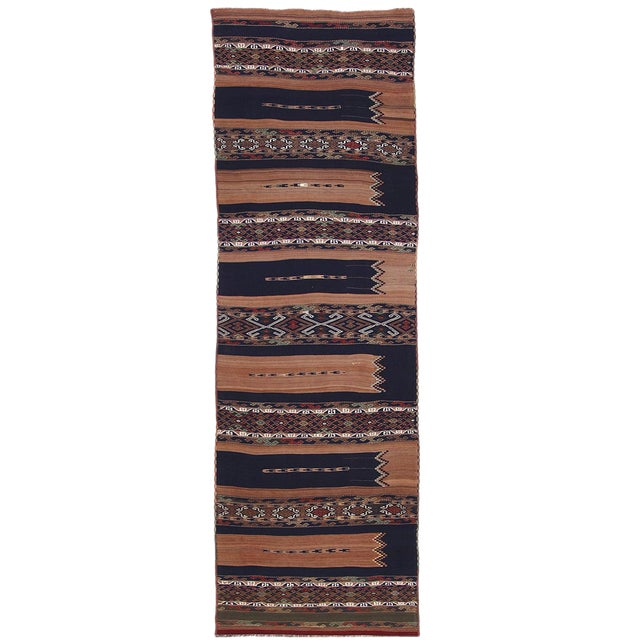 Vintage Turkish Kilim Runner | 3'5 x 17' Flatweave For Sale