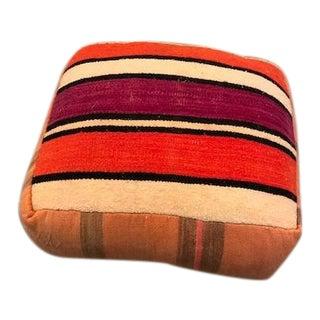 Moroccan Kilim Wool Pouf