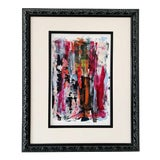 """Image of Contemporary Abstract """"Confidence"""" Acrylic Framed Painting by Gladys Tay For Sale"""