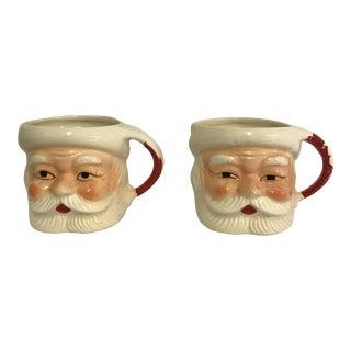 Vintage Santa Mugs - Set of 2 For Sale