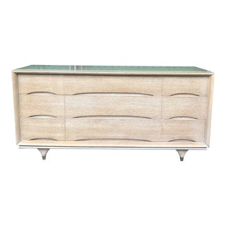 1960s Mid Century Modern Kent Coffey Nine Drawer Dresser For Sale