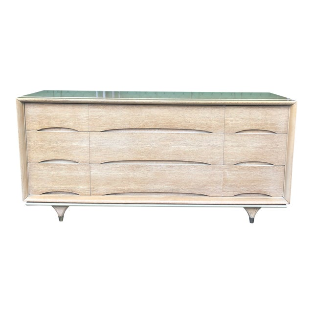 1960s Mid Century Modern Kent Coffey Nine Drawer Dresser For Sale
