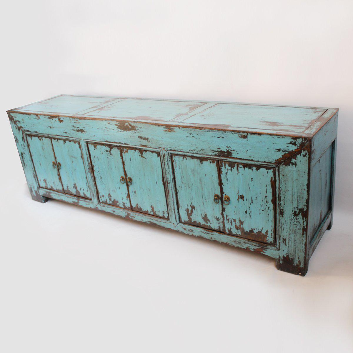 Asian Turquoise Ming Media Cabinet For Sale   Image 3 Of 5