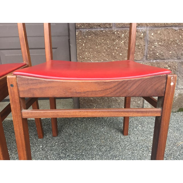1960s Vintage Mid-Century Danish Teak Dining Chairs- Set of 8 For Sale - Image 5 of 9