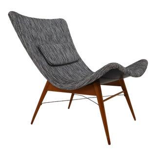 Mid-Century Fiberglass Lounge Chair by Miroslav Navratil for Cesky Nabytek For Sale