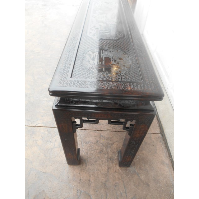 John Widdicomb Chinoiserie Console Table For Sale - Image 5 of 13