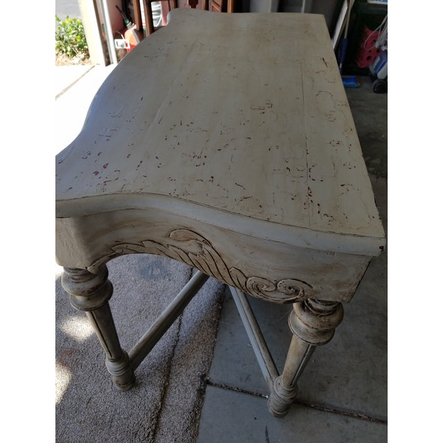 Antique French Distressed Writing Desk For Sale - Image 4 of 5