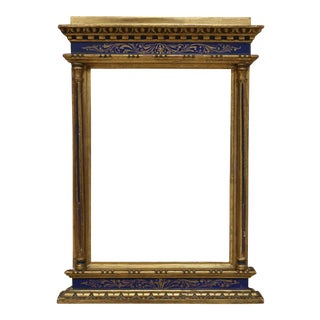 Antique Gold Leaf Gilt Carved Wood Florentine Frame For Sale